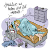 Cartoon: Smart Generation (small) by REIBEL tagged beziehung sex smartphone siri navigation peinlich bett schlafzimmer onenightstand