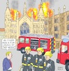 Cartoon: Johnson Chief of Fire Brigades (small) by Barthold tagged boris,johnson,prorogation,parliament,parliamentary,work,coup,exclusion,wesminster,hall,firefighter,fire,truck,engine,brexit,furlough