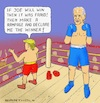 Cartoon: Perfect Sportsmanship (small) by Barthold tagged donald,trump,statement,loss,presidential,election,november,2020,accusation,allegation,fraud,joe,biden,boxing,ring,viewer,match,cartoon,caricature,barthold
