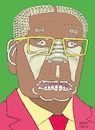 Cartoon: Portrait Robert Mugabe (small) by Barthold tagged robert,mugabe,president,zimbabwe,dictator,death,composition,human,bones,ribs,spines,shoulder,blade,sacrum,ischium,pubic,bone,sternum,sceletonized,foot,skulls