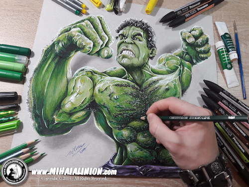 Cartoon: Drawing Hulk - 3D Comics (medium) by Art by Mihai Alin Ion tagged drawing,illustration,painting,3dart,mihaialinion,pencildrawing,comicbook,comics,incrediblehulk,thehulkk,drawinghulk,brucebanner,marvel,superheroes