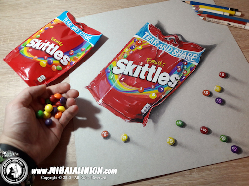 Cartoon: Drawing Skittles - 3D Art (medium) by Art by Mihai Alin Ion tagged drawing,painting,illustration,3dart,realistic,skittles,mihaialinion,productdesign
