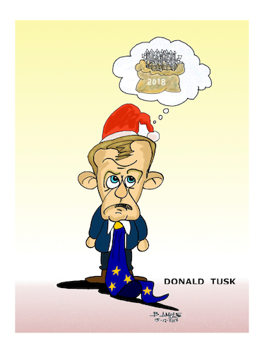 Cartoon: Donald Franciszek Tusk (medium) by vasilis dagres tagged immigration,problem,donald,franciszek,tusk