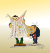 Cartoon: Erdogan and journalist press (small) by vasilis dagres tagged erdogan,turkey,media