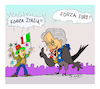 Cartoon: FORZA ITALIA (small) by vasilis dagres tagged christine,lagarde,italia,european,union