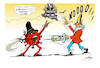 Cartoon: VACCINES (small) by vasilis dagres tagged covid,vaccines,markets