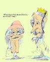 Cartoon: Queen and Prince Charles (small) by higi tagged queen,charles,comic,cartoon,halftimejob,royal