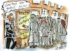 Cartoon: Wohnungsbesichtigung (small) by Jens Natter tagged immobilien,wohnungen,miete,vermieter,courtage,mietpreisbremse,makler,immobilienmakler,cartoon