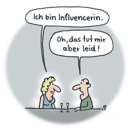 Cartoon: Dating (medium) by Lo Graf von Blickensdorf tagged influencer,influenca,grippe,internet,online,computer,instagram,soziale,medien,yotube,kanal,cartoon,bar,mann,frau,bibisbeautypalace,multiplikatoren,influencer,influenca,grippe,internet,online,computer,instagram,soziale,medien,yotube,kanal,cartoon,bar,mann,frau,bibisbeautypalace,multiplikatoren