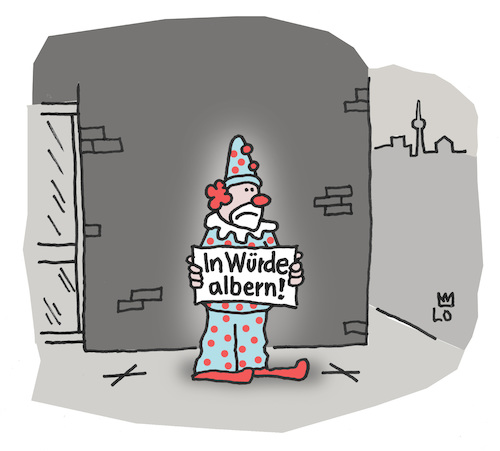 Cartoon: Demo (medium) by Lo Graf von Blickensdorf tagged demonstration,protest,schild,plakat,greta,thunberg,alter,albern,cartoon,karikatur,lo,clown,dummer,august,hanswurst,zirkus,straße,narr,altersarmut,rente,wortspiel,lustig,sein,demonstration,protest,schild,plakat,greta,thunberg,alter,albern,cartoon,karikatur,lo,clown,dummer,august,hanswurst,zirkus,straße,narr,altersarmut,rente,wortspiel,lustig,sein