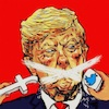 Cartoon: Freedom (small) by takeshioekaki tagged trump