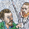 Cartoon: Gogh VS (small) by takeshioekaki tagged gogh,gauguin