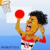 Cartoon: Rui Hachimura (small) by takeshioekaki tagged nba
