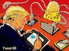 Cartoon: Twitter (small) by takeshioekaki tagged trump