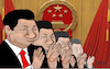 Cartoon: alle mal klatschen (small) by jpn tagged china,volkskongress,stimmvieh,klatschen,beifall,diktatur