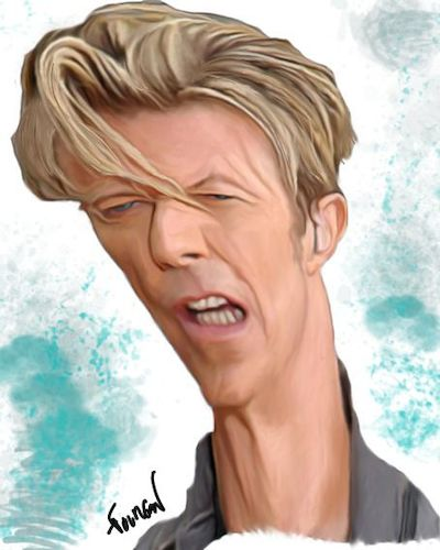 Cartoon: dessins et caricatures (medium) by MFOURGON tagged bowie