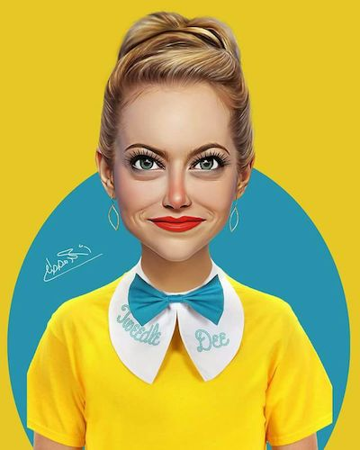Cartoon: Emma Stone (medium) by Ahmed Mostafa tagged emma,stone