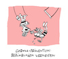Cartoon: Circus Corona (small) by Bregenwurst tagged coronavirus,trapez,circus,abstand,social,distancing,gravitation