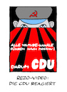 Cartoon: Plakat 4.0 (small) by Bregenwurst tagged cdu,youtube,rezo,video,reaktion,moskau