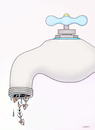 Cartoon: water shortage (small) by saoud tagged water,shortage