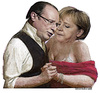 Cartoon: BALLO (small) by edoardo baraldi tagged hollande,merkel,berlin