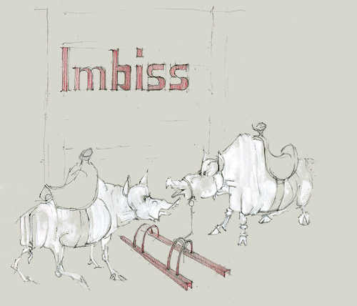 Cartoon: Imbiss (medium) by herranderl tagged imbiss