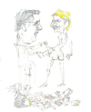 Cartoon: badende (small) by herranderl tagged andy,uschi