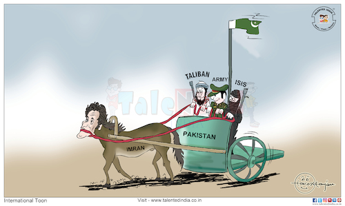 Cartoon: Cartoon On Imran Khan (medium) by Talented India tagged taliban,talentedindia,talented,cartoon,imrankhan,pakistan