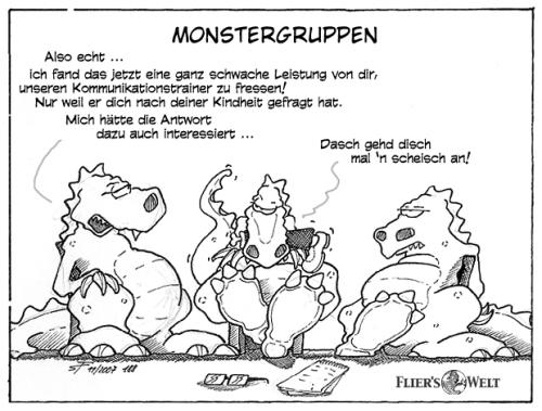 Cartoon: Monstergruppen (medium) by FliersWelt tagged monster,gruppen,kommunikation,training