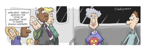 Cartoon: Zone of Isolation (medium) by Goodwyn tagged radiation,nuclear,subway,train