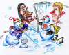 Cartoon: Snowmans penalty (small) by bebetokaspi tagged didier,drogba,chelsea,van,der,sar,manchester