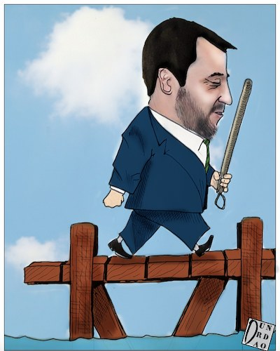 Cartoon: Disobbedienti (medium) by Christi tagged salvini,sindaci,decretosicurezza