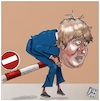 Cartoon: The first defeat arrived for Bor (small) by Christi tagged johnson,brexit