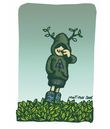 Cartoon: Treebeing (medium) by mortimer tagged trees,nature,mortimer,treebeing,girl