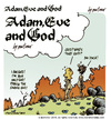Cartoon: adam Eve and God 01 (small) by mortimer tagged mortimer,mortimeriadas,cartoon,comic,gag,biblical,adam,eve,god,snake,bible,christian,holy,leaf,sex,love,erotic,hairy,belly,blonde,flowers,paradise,eden,original,sin