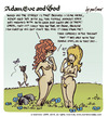 Cartoon: adam eve and god 13 (small) by mortimer tagged mortimer,mortimeriadas,cartoon,comic,gag,adam,eve,god,bible,paradise,eden,biblical,christian,original,sin,sex,nude,toons,hairy,belly,blonde
