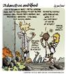 Cartoon: Adam Eve and God 42 (small) by mortimer tagged mortimer mortimeriadas cartoon comic biblical adam eve god snake paradise bible