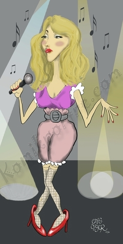 Cartoon: turkish popstar (medium) by komikportre tagged turkish,popstar