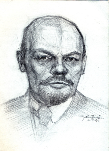 Cartoon: Vladimir Lenin (medium) by Sajith Bandara tagged lenin