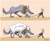 Cartoon: terrorism and anti-terrorism (small) by Sajith Bandara tagged terrorism