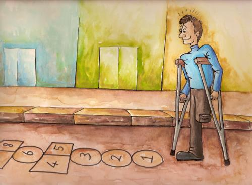 Cartoon: disabled (medium) by menekse cam tagged disabled