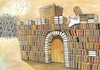 Cartoon: Books (small) by menekse cam tagged book,read,reading,castle,girl,strong,enemy,kale,kitap,okuma,kizlar