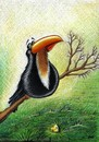Cartoon: Crow (small) by menekse cam tagged crow,fox,cheese,story,happy,end,eating,tree