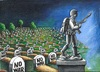 Cartoon: NO WAR! (small) by menekse cam tagged war peace death life civilian army soldiers syria turkey cemetery sculpture grave gravestone
