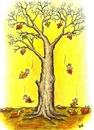 Cartoon: The difficult separation (small) by menekse cam tagged autumn,end,difficult,separation,leaves,tree,weather,winter,cold,sadness