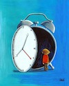 Cartoon: Time (small) by menekse cam tagged time,beyond,dark,unknown,clock