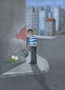 Cartoon: Urbanization2 (small) by menekse cam tagged urbanization city buildings flowers geography classbook