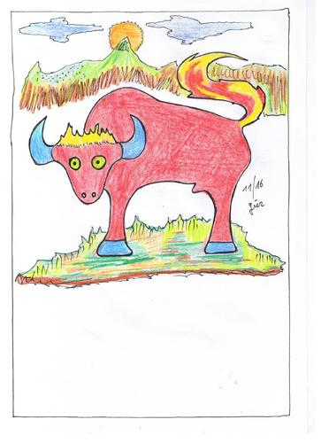 Cartoon: Bulli  Bully Toro Stier Bull (medium) by skätch-up tagged bulli,bully,toro,stier,bull