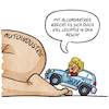 Cartoon: Autoindustrie (small) by Sven Raschke tagged autos,autoindustrie,suv,merkel,politik,co2