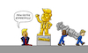 Cartoon: Trump Kompromiss (small) by Sven Raschke tagged donald,trump,usa,black,lives,matter,rassismus,statuen,amerika